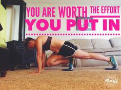 Monday morning!   No excuses! Click image for more inspiration! #piyo