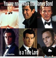 """FABULOUS FRIDAY! Today we celebrate all things Bond, James Bond. This blockbuster movie franchise knows how to cast a male lead...Connery, Niven Lazenby, Moore, Brosnan and Craig and on the 50th anniversary of the role in film, what better way to celebrate then with this dedicated meme. """"Like"""" if you agree."""