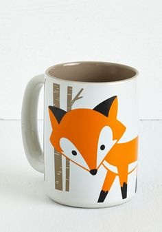Walk on the Wily Side Mug. Thanks to this quirky mug, you can start your mornings in cunning style. #multi #modcloth