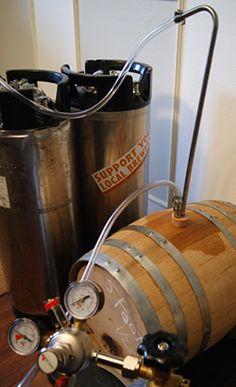 Transferring homebrew from barrel to keg. Oak-Barrel Aged Raspberry Porter & Espresso Stout - HomeBrewing.com