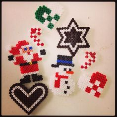Christmas ornaments hama perler beads by pagey163