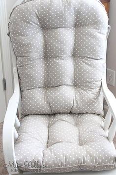 Custom Chair Cushions/ Glider Cushions/ by MissPollysPieceGoods Glider Replacement Cushions, Glider Rocker Cushions, Chair Cushions, Rocking Chair Makeover, Urban Design Plan, Sit On Top, Custom Cushions, Cushion Fabric, Gliders