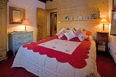 Chambre Double du chalet de l'Hotel du Jeu de Paume Chamonix