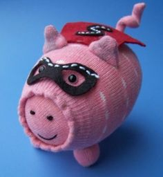 how to make a sock pig 3