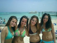Four Beautiful Israeli Bikini Girls