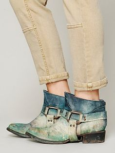Distressed Short River Boots from Free People