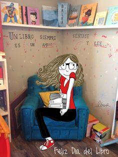 ¡Feliz Día del Libro! (23 de abril) Un día antes en el colegio. ;)