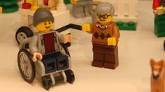 There are pirate Lego figures, cowboy Lego figures, even Lego stormtroopers. But it's taken almost 84 years for Lego to finally creatures a minifigure… - Lego Wheels, Teaching Colors, Lego Figures, Lego News, Special Needs Kids, Disability, Legos, Minions, Barbie