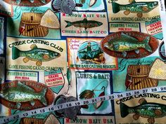 Wildlife flannel fabric with fish fisherman cotton print quilt sewing material craft supply by the yard BTY quilter fish fabric outdoor by ConniesQuiltFabrics from ConniesQuiltFabric. Find it now at http://ift.tt/2sJHL4U! http://ift.tt/24HwgZX.