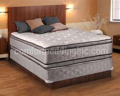 Hollywood Burgandy Pillowtop Medium Plush Double Sided King Mattresses