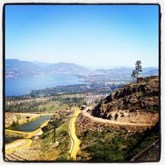 Great views of Kelowna from Kelowna Mountain.
