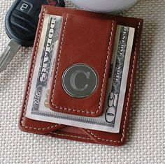 Personalized Leather Money Clip and Wallet Combo - Groomsmen Gift - Best Man Gift - Fathers Day Gift - Engraved - Monogrammed for Free