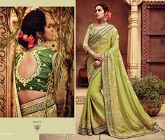 latest bridal saree design wedding wear indian bollywood freeship georgette sari #Handmade #saree