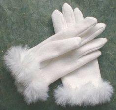 Patrón de estos Bonitos guantes de señora para hacer tu mismo.