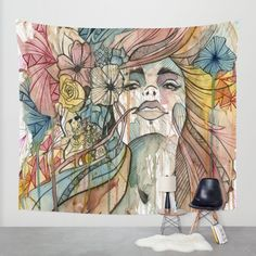 Buy FLOWER Wall Tapestry by Elena Clark. Worldwide shipping available at Society6.com. Just one of millions of high quality products available.