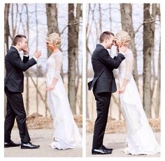 TYLER AND JENNA JOSEPH ARE SO BEAUTIFUL THIS WAS THE FIST TIME HE SAW HER IN HER WEDDING DRESS