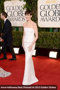 Anne Hathaway Best Dressed At 2013 Golden Globes
