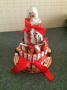 Cioccolata Kinder a forma di Torta! • Idea per San Valentino  #SanValentino #Torta #Idee #Regalo #Cioccolata #Dolci