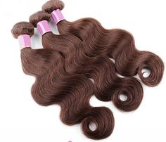 "100% Brazilian 5A Virgin REMY Body Wave Hair Extensions Dark Chestnut #3B #hair #haircare  JL Virgin hair is constructed with a ""Shed FREE micro-machined triple weft"" so that your hair extension is guaranteed to lay flat and appear natural. Includes: FREE 6oz. Straight Silk Spray"