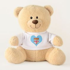 Flag of Fiji Island Teddy Bear - home gifts ideas decor special unique custom individual customized individualized