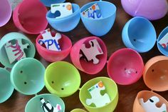 Kids Activity Idea: Love this idea of a puzzle scavenger hunt--kids find all the pieces to put them together to see a message or picture
