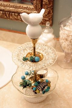 amazing DIY jewelry stand! via @Michelle Edwards of sweet something designs and…