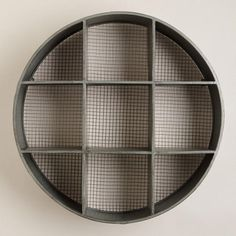 One of my favorite discoveries at WorldMarket.com: Round Thomas Metal Cubby