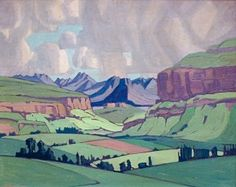 Jacob Hendrik Pierneef (South African, Malutis by Fouriesburg, Eastern Free State Artist Paint, African, Art Painting, Fine Art, Art, South African Art, Pictures, Art Pictures, South African Artists