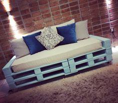 #sofá #pallet #tonsdeazul