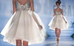 vestido de noiva curto transparencia