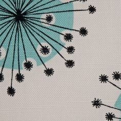 Dandelion Mobile Fabric Porcelain With Powder Blue