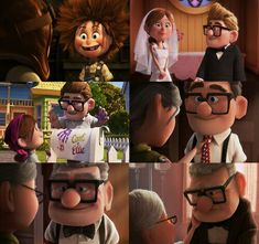true love is about growing old together, though the one leaves you behind so early he/she will always be important to you no matter what Disney Pixar, Up Pixar, Disney Up, Pixar Movies, Disney Movies, Disney Characters, Disney Animation, Walt Disney, Cute Love Stories