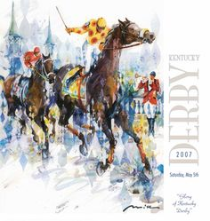 Official Poster of the 2007 Kentucky Derby Horse Racing Poster (Artist Misha Lenn) -  available at www.sportsposterwarehouse.com