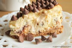 Those Nestle Toll House DelightFulls really pack a sweet punch and make this Chocolate Chip Caramel Cheesecake a huge hit!