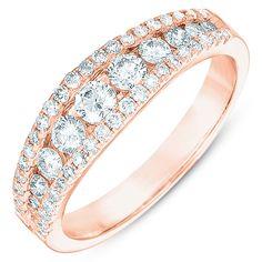 Hoff Jewelers :: Diamond Fashion Diamond Rings   Rose Gold Wedding Band
