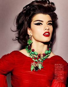 Crystal Renn. Vogue, Japan.