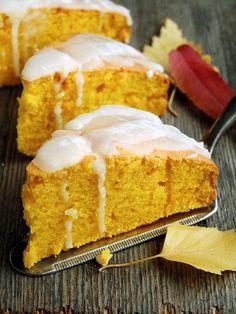Delicious pumpkin pie (in Polish) Dessert Recipes, Desserts, Cornbread, Vanilla Cake, Crisp, Food And Drink, Pumpkin, Sweets, Polish