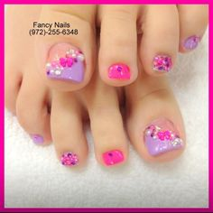Pretty Toe color & design Nail Design, Nail Art, Nail Salon, Irvine, Newport Beach