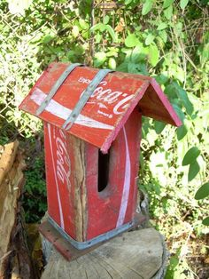 coke crate Birdhouse
