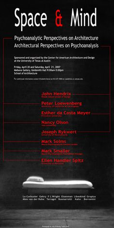 UTSOA's Space & Mind lecture poster [2007] #lecture #exhibitions #event #poster #utaustin #utsoa