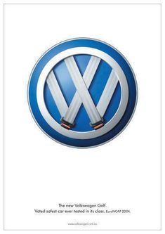 A Neat ad created by Volkswagen. Take note of the seat belts that create the VW logo. Great Advertisement by this company.