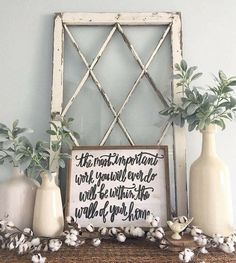 Fabulous Farmhouse Mantel Decorating Ideas – Onechitecture - Rustic Home Decor Country Country Decor, Rustic Decor, Farmhouse Mantel, Farmhouse Style, Rustic Mantle, Vintage Farmhouse, New Wall, My New Room, First Home