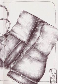 Sketchbook Skool homework... Ballpoint pen ...Tracey Fletcher King: Some Days...