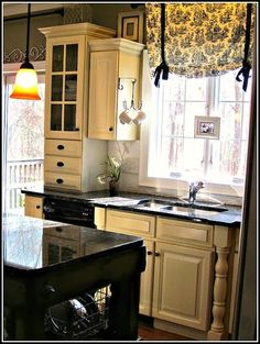 Black And White Toile Kitchen Curtain Image) is part of Kitchen window Right now, we propose Black and White Toile Kitchen Curtain For you, This Article is Related With Vintage Kitchen Curtains - Kitchen Redo, New Kitchen, Kitchen Remodel, Kitchen White, Kitchen Country, French Kitchen, Rustic Kitchen, Vintage Kitchen, Kitchen Ideas