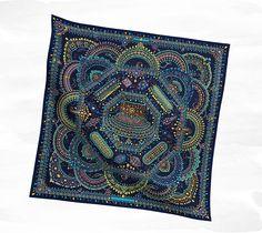 Hermès Bleu Twill Silk scarf. A 90 cm square of Heaven.