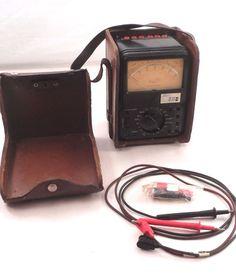 VTG Simpson 635 Shielded Movement Volt Ohm Meter Multimeter Milliammeter in Case #Simpson