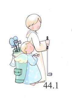 dibujos primera comunion - Buscar con Google Baptism Cookies, Golf Party, First Communion, Precious Moments, Christening, Silhouette Cameo, Smurfs, Angel, Scrapbook