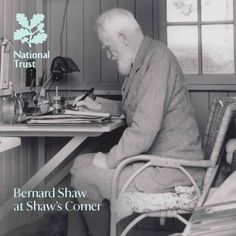 George Bernard Shaw had Alexander Technique lessons with F M Alexander & it shows as he sits writing with such poise!(photo from the new guidebook 'Bernard Shaw at Shaw's Corner'...