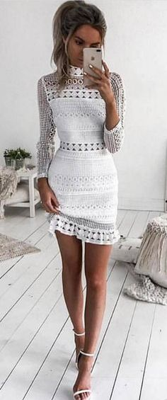 #fall #outfits women's white dress
