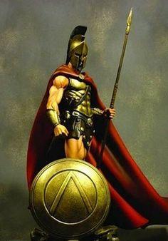 REI LEÔNIDAS Fantasy Armor, Dark Fantasy Art, Greek History, Ancient History, Nicki Larson, Ichigo Et Rukia, Sparta Tattoo, Roman Warriors, Greek Warrior